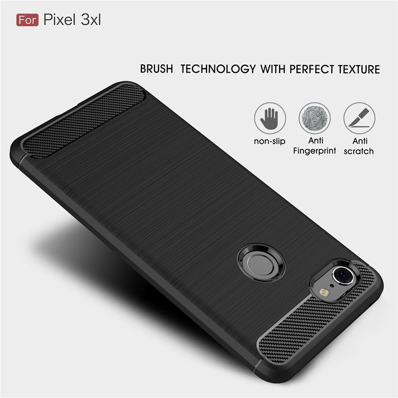 Case For Google Pixel 3 Cover Shockproof Soft TPU Brushed Back Case For Google Pixel 3 Case Shell For Pixel 3 Fundas