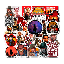 50 pçs jogo superior vermelho dead redemption adesivos para notebook pc skate bicicleta motocicleta diy brinquedos à prova dfágua adesivo f5