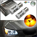 (2) Amber CAN-bus 50W CRE'E 7507 PY21W LED Bulbs For BMW 1 2 3 4 5 Series X1 X3 X4 X5, etc Front or Rear Turn Signal Lights