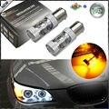 (2) ambar CAN-bus 50 W CRE'E 7507 PY21W LED Bombillas Para BMW 1 2 3 4 5 Series X3 X1 X4 X5, etc Luces Direccionales Delanteras y Traseras
