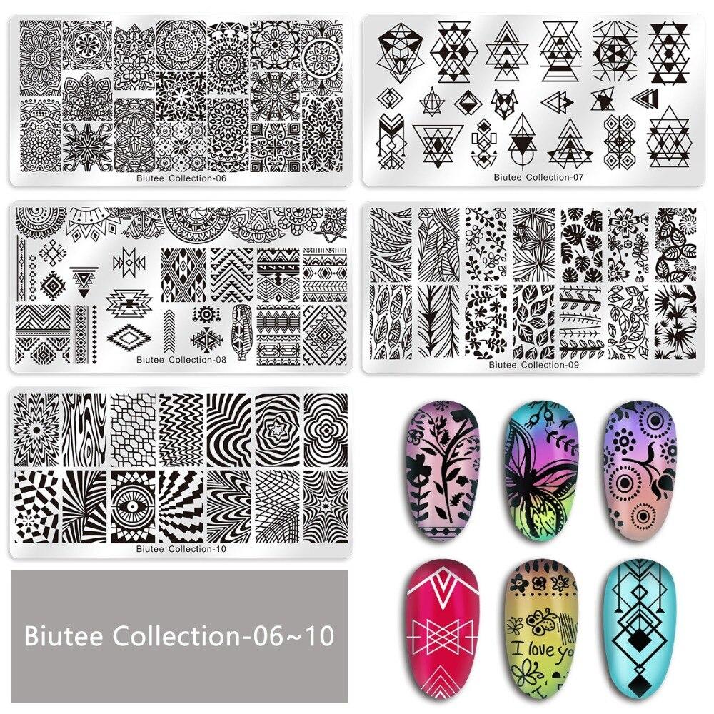 Image 4 - Biutee Nail Stamp Plates set 15 plate +1 Stamper+2 Scraper +1storage bag Desgins Nails Art Stamping Plate Scraper Stamper SetSets & Kits   -