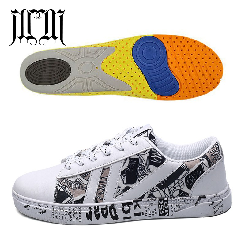 MumuEli Added Insole Mixed Colors White Black 2019 High Quality Fashion Luxury Shoes Men Designer Casual Leather Sneakers 1719