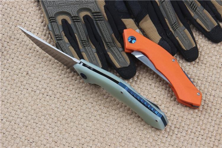 Venta caliente 58-60HRC D2 cuchilla G10 mango 3 colores cuchillo - Herramientas manuales - foto 2