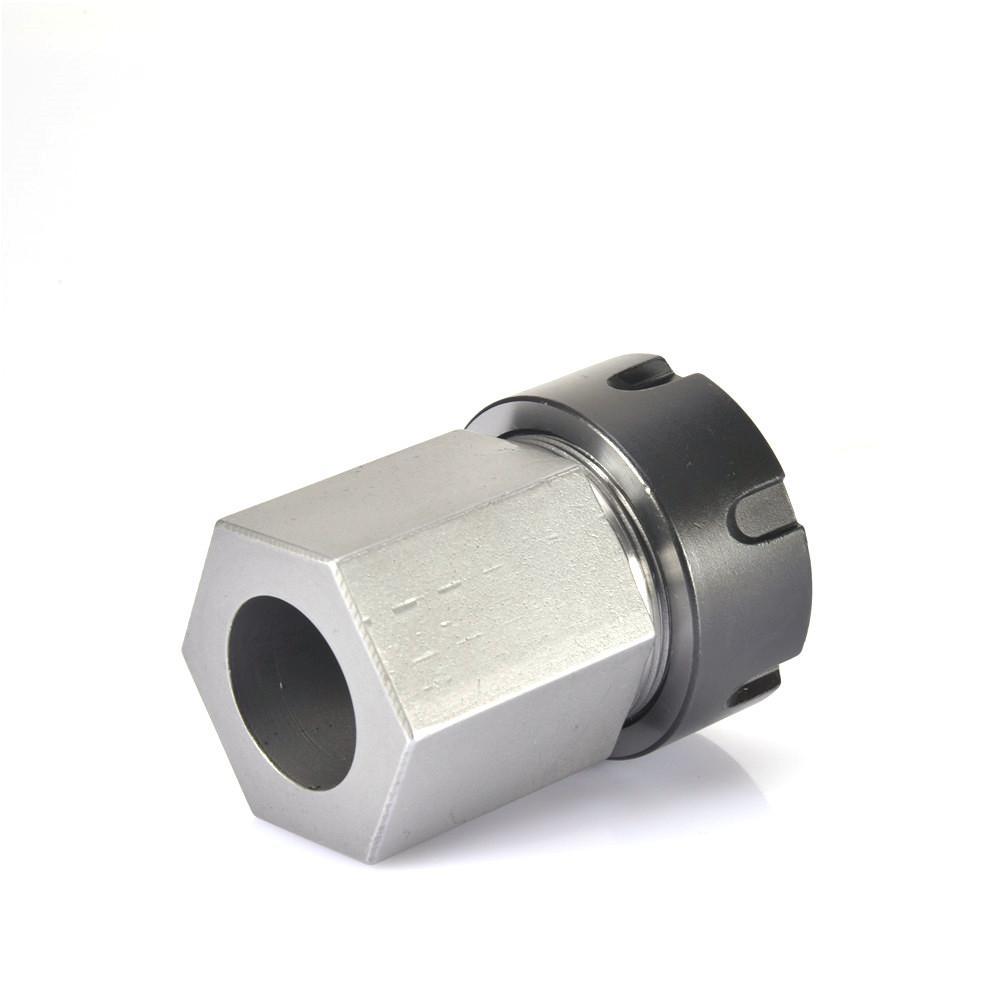 Hex ER25 Steel Spring Collet Block Tool Holder for CNC Lathe Engraving Machine
