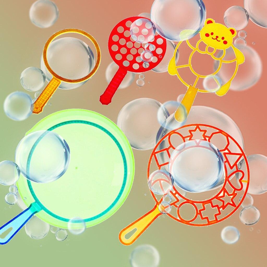 6Pcs/Set Water Blowing Toys Bubble Soap Bubble Wand Set Outdoor Kid Toys Parent-child Exchange Interactive Toy Giant Bubble Blow