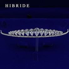 HIBRIDE Простой Дизайн Тиара Корона Свадебные Волос Ювелирные Изделия Свадебный Головной Убор Аксессуары HC00008