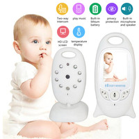 Leioua Wireless Baby Monitor Temperature BeBe Baba Care Electronic Security 2.0 inch LCD Screen Camera Video Night Vision