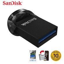 SanDisk оригинальный Ультра Fit USB флэш-накопитель 64 ГБ CZ430 16 Гб миниатюрный USB флеш-накопитель 3,1 до 130 МБ/с./с Флэшка высокоскоростная USB 3,0 USB
