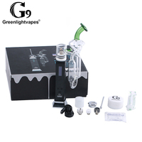 G9 Tcport rechargeable electronic pyrex glass oil burner bubbler enail wax vaporizer dab rig smoking pipe with glass water pipe