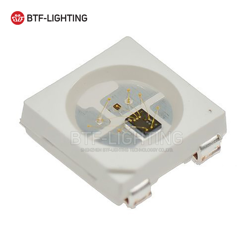 WS2812B LED-chip 10 ~ 1000st 5050 RGB SMD Svart / vit version WS2812 - LED-belysning - Foto 5