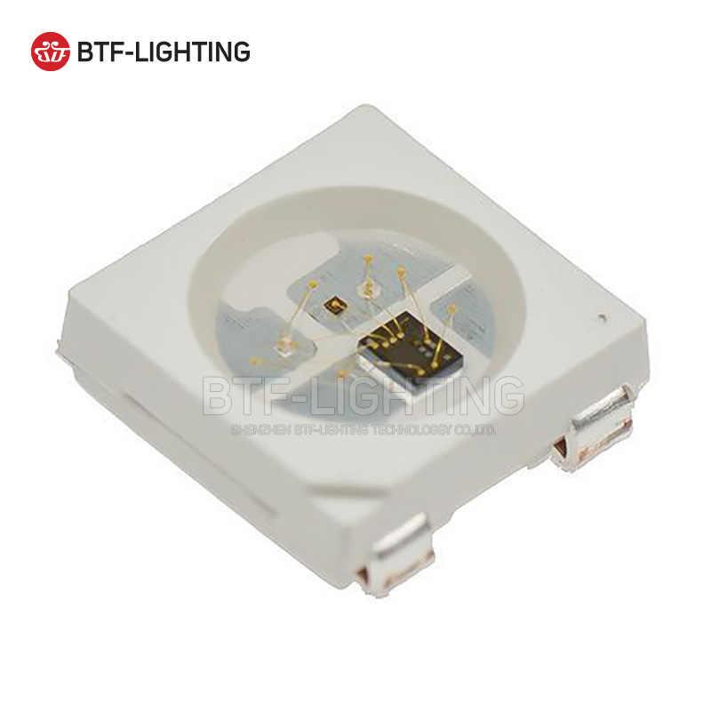 WS2812B układ LED 10 ~ 1000 sztuk 5050 RGB SMD czarny/biały wersja WS2812 indywidualnie adresowane cyfrowy 5 V