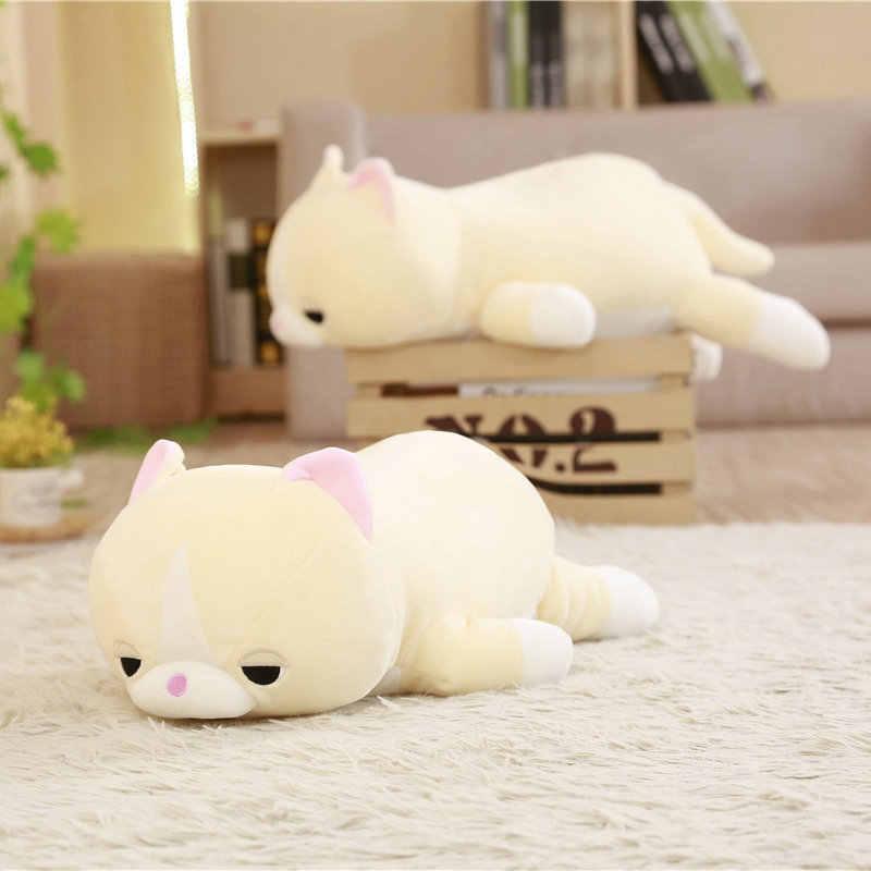 45/60 centímetros Macio Gato Dos Desenhos Animados Plush Toy Stuffed Animal Dolls Kawaii Escritório Cochilo Travesseiro Lindo Presente de Aniversário Das Crianças