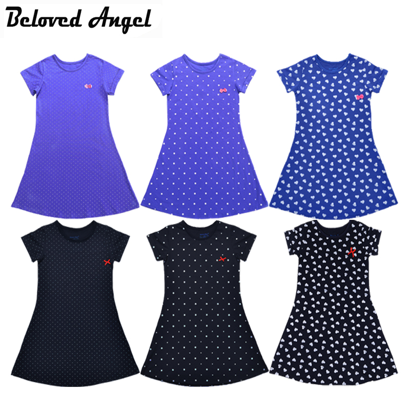2018 Kids Baby Girls Dress Children Summer Style Party Bow Tie Dress Cute Toddler Sundress With Sleeve Baby Girl Dresses 1-13T