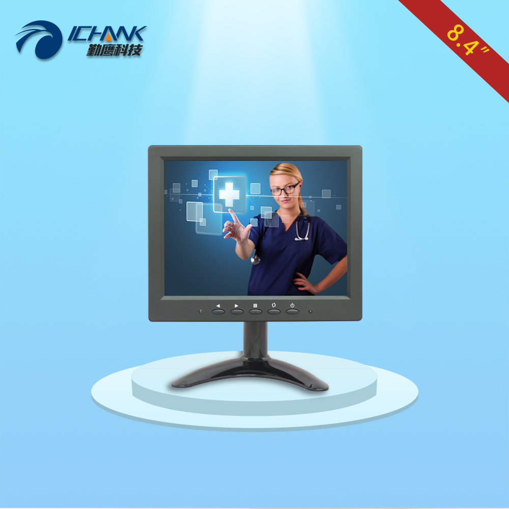 B084JC-PC/8.4 inch 800x600 4:3 VGA PC signal portable high sensitivity four wire resistance touch monitor LCD screen display;