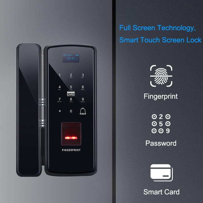 Eseye Glass Fingerprint Lock Digital Electronic Door Lock For Home Office Anti theft Intelligent Password RFID