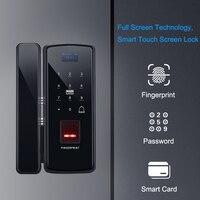 Eseye Glass Fingerprint Lock Digital Electronic Door Lock For Home Office Anti theft Intelligent Password RFID Card Smart Lock
