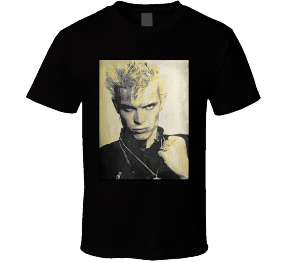 Billy Idol Rock Star Punk 80s Retro Music T Shirt ...