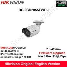В наличии на складе Hikvision английский безопасности Камера DS-2CD2055FWD-I 5MP H.265 + Мини Пуля CCTV Камера WDR IP Камера POE на доска для хранения