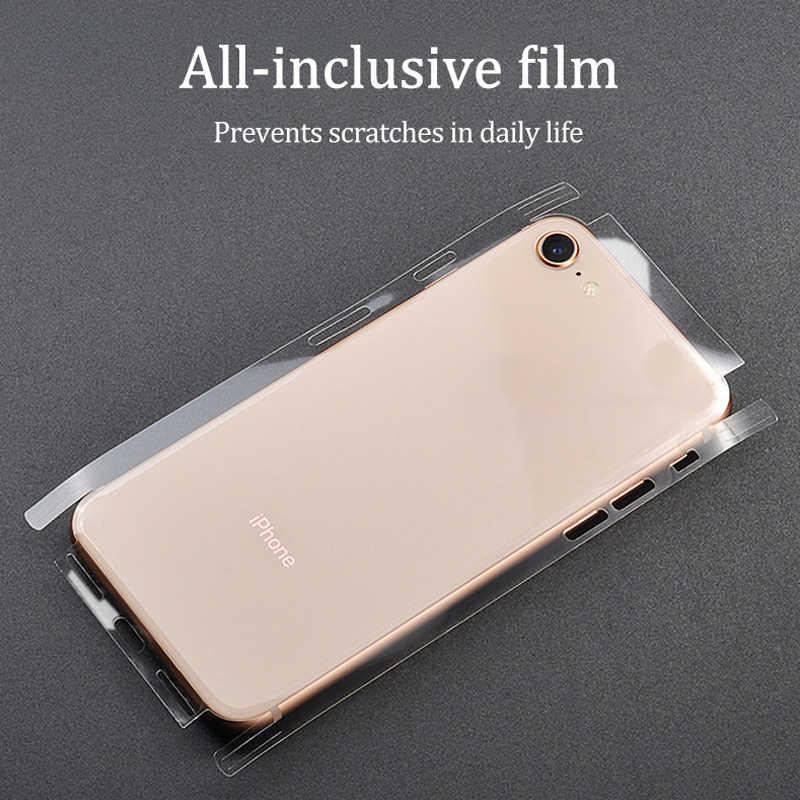 Гидрогели прозрачный маслостойкий стикер для iPhone 11 6 6S 7 8Plus X Xr Xs Max наклейка на заднюю панель декоративная наклейка s протектор