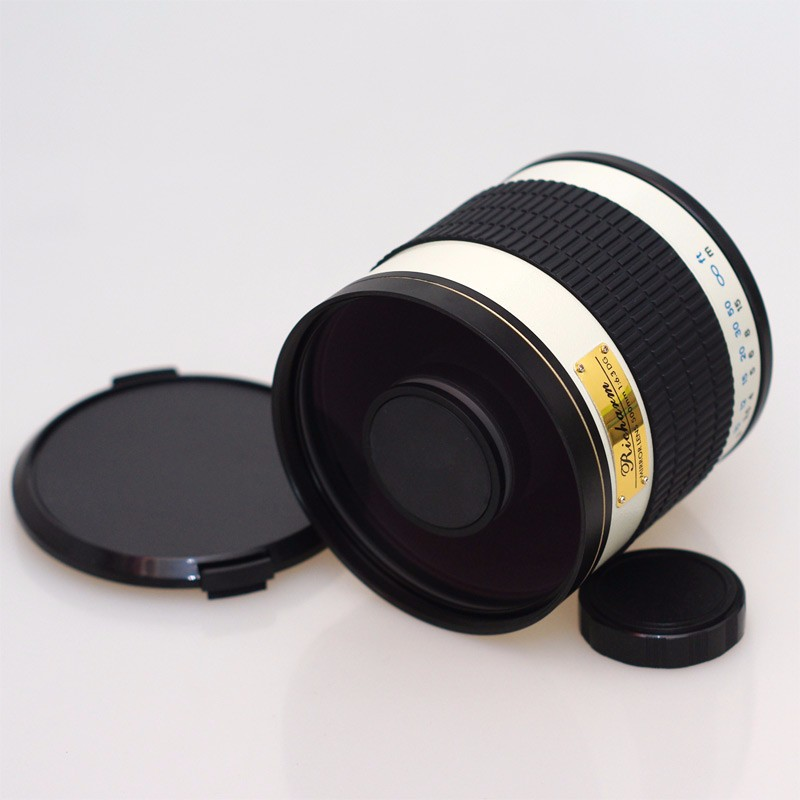 500mm F/6.3 Telephoto Mirror Lens + T2 Mount Adapter Ring for Canon Nikon Pentax Olympus Sony A7 A7RII A6300 DSLR 1