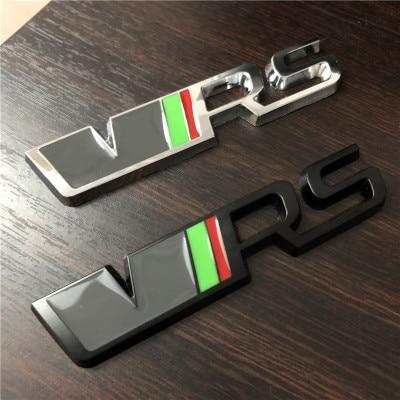 5X 3D chrome black Car  Sticker VRS Trunk Emblem Decal RS Badge For SKODA Fabia Octavia Rapid Superb Yeti Citigo Roomster