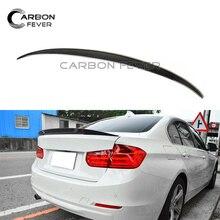 Spoiler For BMW 3 Series F30 F35 F80 Carbon Fiber Spoilers 320i 328i 335i 326d F80 M3 2012+ Sedan Car Face;ift Rear Boot Wing стоимость