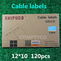 [blue]Label Sticker - Cable Labeling Sticker - Waterproof Label Tags - One pack = 10 sheets (120pcs stickers)