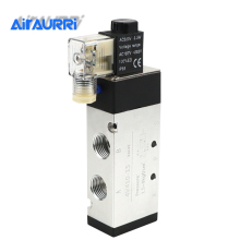 цена на 4V410-15 good quality 5 port 2 position Solenoid Valve DC24v,DC12V,AC24V,AC36V,AC220V,AC380V with Fittings