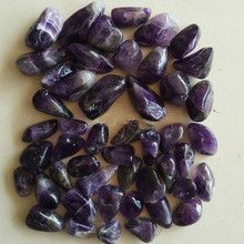100g natural amethyst gravel large original stone crystal degaussing aquarium flower  raw crystals