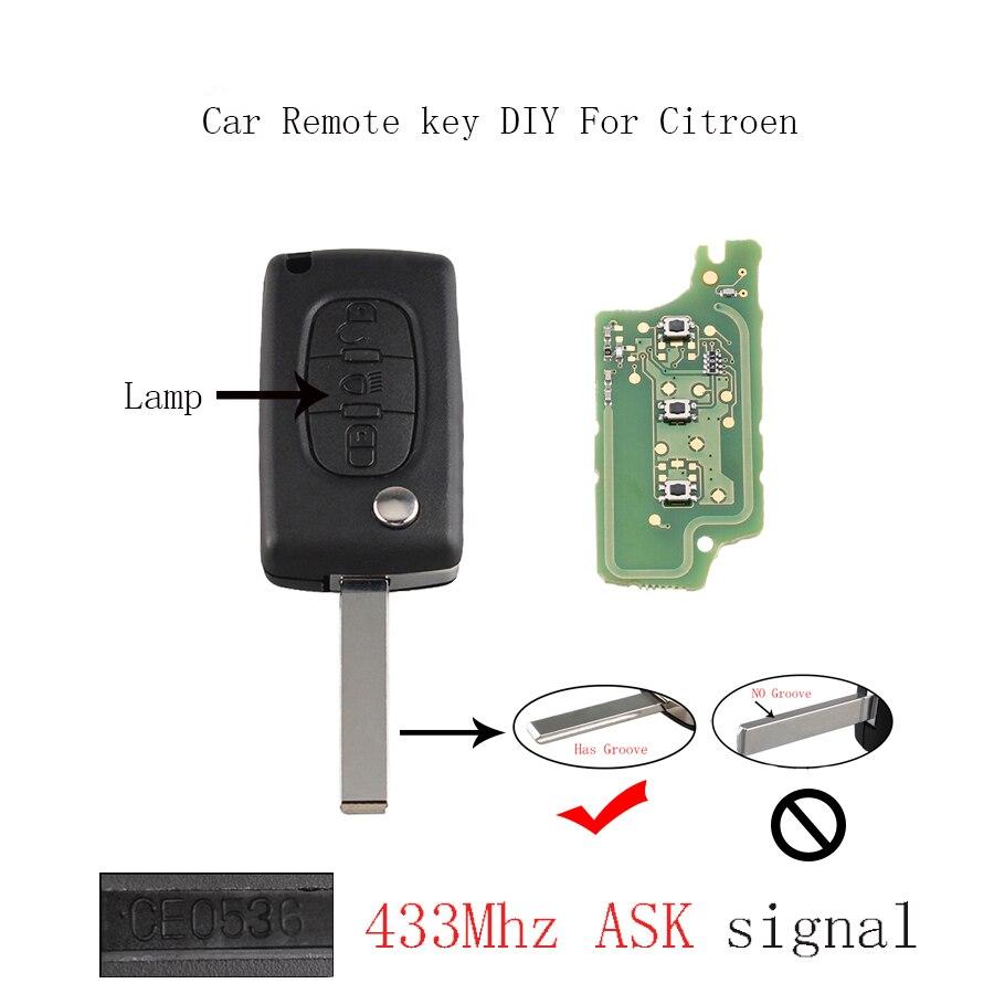 433mhz remote key for citroen c1 c2 c3 c4 c5 berlingo picasso car key auto remote pcf7961 chip. Black Bedroom Furniture Sets. Home Design Ideas
