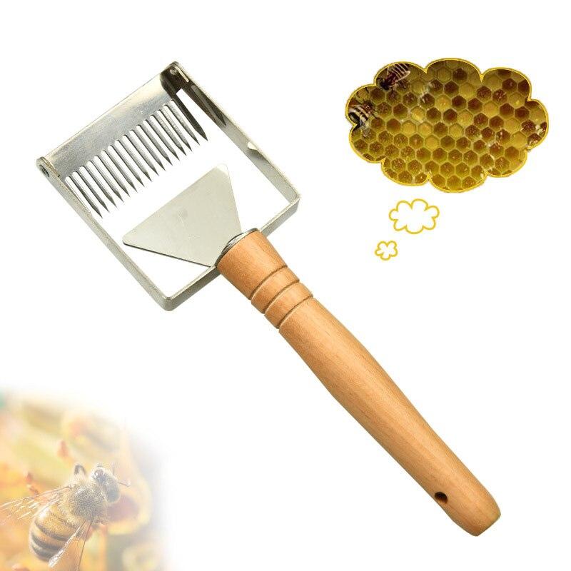 Beekeeping Equipment Uncapping Scraper Barbed Cut Honey Fork Balanced 17-pin Scraper Beekeeping