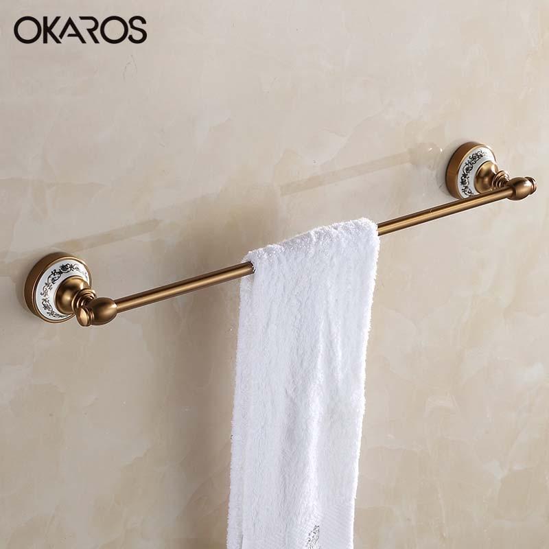 Vintage Ceramic Towel Bar: OKAROS Bathroom Single Towel Bar Towel Rack Towel Holder