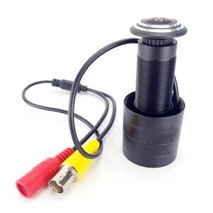 Image 2 - Mini caméra de sécurité analogique 800TVL, FishEye, grand Angle, caméra vidéo de porte, compatible avec TV, moniteur, vue directe