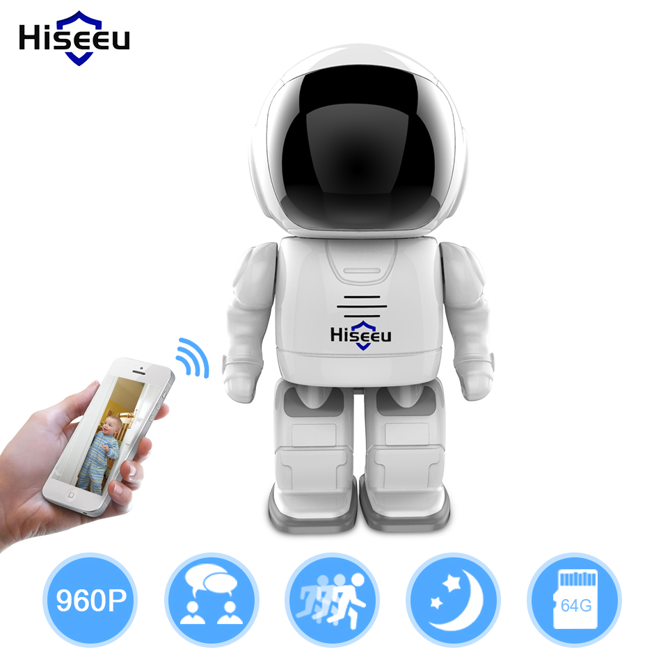 Robot Wifi camera 1.3MP HD Wireless IP Camera Wi-fi Night Vision  Network two way audio Baby Monitor mini wifi robot 960p ip camera wireless clock network hd baby monitor remote control home security night vision two way audio 39