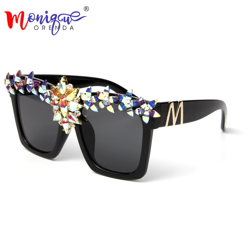 2018 Sunglasses for Women Luxury accessories Oversize Cool Square Sunglasses Brand glasses Retro Vintage Shades Ladies