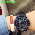 2017 nueva marca sanda reloj deportivo hombres mujeres reloj del amante Ejército Militar Montre Homme Calendario Resistente Al Agua S Choque G relojes