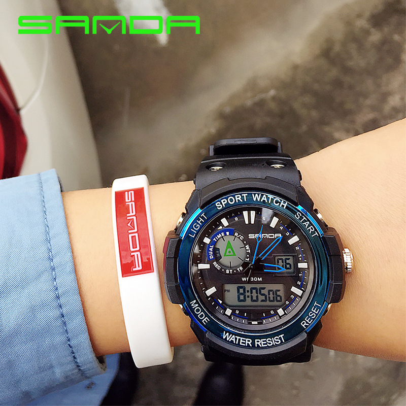 2018 New Brand SANDA Sports Watch Men Women Lover's Clock
