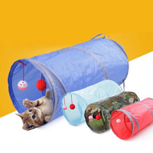 6 Color Funny Pet Kitten Cat Tunnel with 2 Holes & Balls to Play
