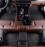 Special Full Surrounded Car Floor Mats For Mercedes CLK280 2doors Waterproof Leather Carpets Tasteless Non Slip