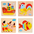 Kids puzzle Wood animal puzzle for 3 year old child wooden toys for children baby handmade DIY Educational toys games fun jigsaw