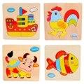 Kids puzzle rompecabezas de madera animal para 3 year niño de madera juguetes para los niños bebé hechos a mano DIY juguetes educativos juegos divertidos rompecabezas