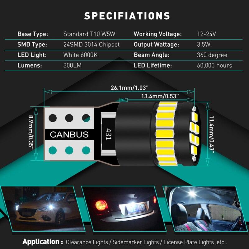 HTB11NQLatfvK1RjSszhq6AcGFXaI 2x Canbus T10 W5W 168 194 LED Clearance Side Marker Lights For Mercedes Benz W211 W221 W220 W163 W164 W203 C E SLK GLK CLS M GL