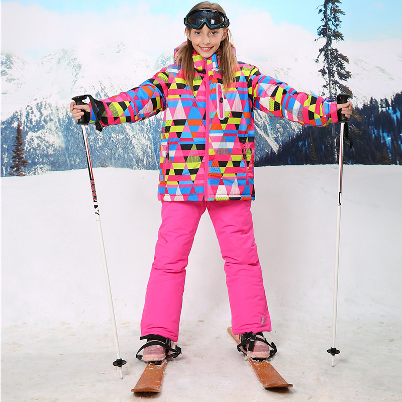 For -30 Degree Warm Coat Sporty Ski Suit Waterproof Windproof Baby Girls Jackets Kids Clothes Sets Children Outerwear For 3-16T gsou sfor 30 degree warm coat sporty ski suit waterproof windproof girls jackets kids clothes sets children outerwear for 3 16t