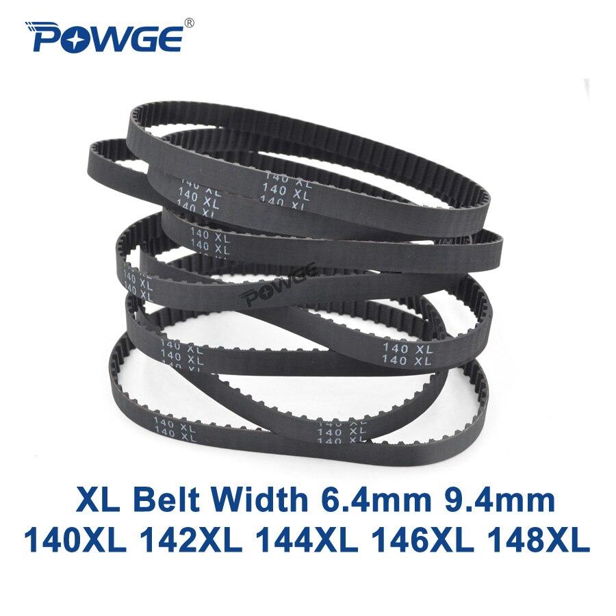 POWGE XL correia Dentada 140/142/144/146/148 Largura 025 6.4mm 037 Dentes 70 71 72 73 74 Synchronous Belt 140XL 142XL 144XL 146XL 148XL