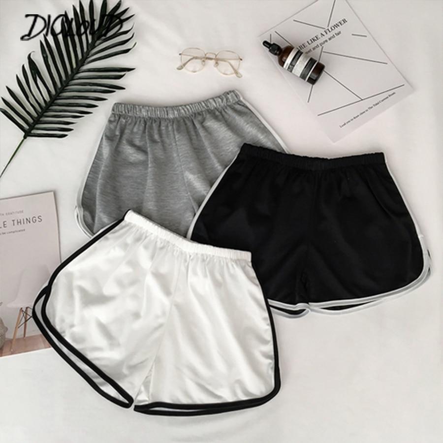 2019 Simple Women Casual Shorts Patchwork Body Fitness Workout Summer Shorts Female Elastic Skinny Slim Beach Egde Short Hot