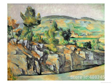 Awesome Lu0027art Impressionniste Du0027aix En Provence Rocheux Campagne Paul Cézanne  Peintures Décor À La Main De Haute Qualité Dans Peinture Et Calligraphie De  Maison ...