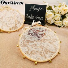 OurWarm 3pcs Wedding Lace Tambourine Clapping Noise Maker Gifts for Guest Baptism Favors Boho Birthday Party Decoration
