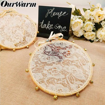 OurWarm 3pcs Wedding Lace Tambourine Clapping Noise Maker Gifts for Guest Baptism Favors Boho Wedding Birthday Party Decoration