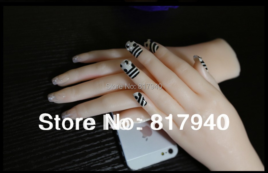 left + right realistic mannequin hands, ring display ,jewelry mannequin display,Model Nail Art Hand ,model hand artist