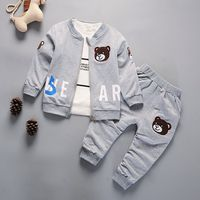 3 peça terno para meninos conjunto de roupa dos miúdos set roupa das crianças 4 ano menino conjunto de ternos Do esporte Do Bebê Da Criança outfits atacado